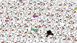 Trouverez-vous le panda parmi ces bonshommes de neige