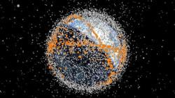 60 ans de débris spatiaux autour de la Terre en 1