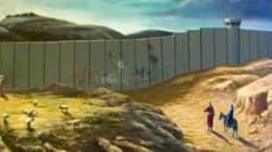 Maria e Giuseppe bloccati da un muro lungo la via che porta a