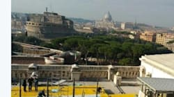 Il bar panoramico costruito sul tetto della Corte di Cassazione (soggetta a
