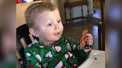 Baby Eats Bacon For The First Time, Totally Loses His