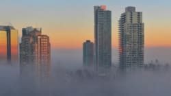 Vancouver Shrouded In Fog Is