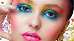 Lily Rose Depp en couverture de Love Magazine est très colorée