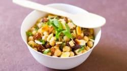 Vite fait, bien fait: salade de pois chiches et raisins secs à la