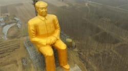 Cette statue géante de Mao fait