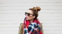 20 façons de porter l'écharpe couverture