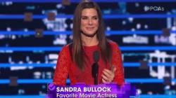 Sandra Bullock Gives Heartfelt Acceptance Speech About Her