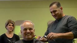 Refugee Barber Gives His 1st Haircut In Canada To His New