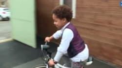 A 5 anni, percorre 3 chilometri in bicicletta per salvare il