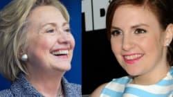 Lena Dunham's #OOTD... On Hillary Clinton's