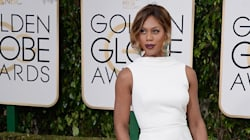 Laverne Cox Stuns In White At The Golden
