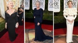 Golden Globes: pas besoin d'être jeune pour éblouir sur le tapis rouge
