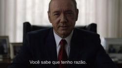 ASSISTA: Em teaser da 4ª temporada, Underwood está ainda mais