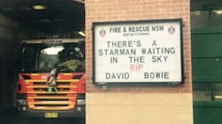 'There's A Starman Waiting In the Sky': Newtown Fire Station's Touching Tribute To David