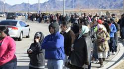 Files d'attente monstres pour la loterie record