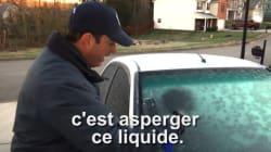 Une astuce pour dégivrer les vitres d'une voiture en quelques