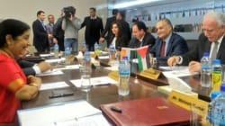Sushma Swaraj Arrives In Palestine, Holds Talks With Top