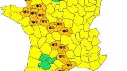 13 départements en vigilance orange