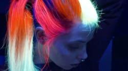 It Looks Like 'Glow-In-The-Dark' Hair Is Now A
