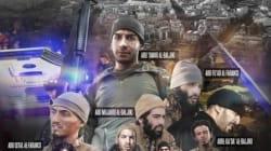 L'Isis celebra i terroristi di Parigi. Fotomontaggio con volti e nomi in stile