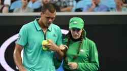 The Heartwarming Moment Jo-Wilfried Tsonga Helps Sick Ball Girl Off