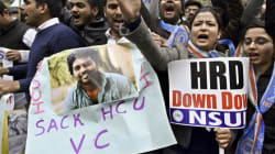 Angry Students Swarm Hyderabad University VC's