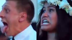 Gli invitati fanno l'haka per gli sposi, loro reagiscono