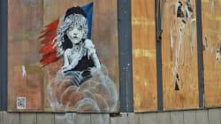 Le pochoir de Banksy qui dénonce l'action de la France à