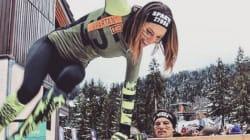 Laury Thilleman plus sportive que jamais à la Spartan Winter Race de
