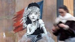 La Cosette de I Miserabili nel nuovo murale di Banksy per i profughi di
