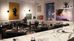 Fruits de mer et œuvres d'art au restaurant êat de l'hôtel W