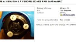 La «roue à trois boutons» de Sam Hamad en vente sur