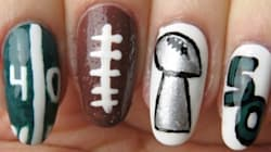 Celebrate Super Bowl 50 With This Nail Art