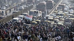 Corporation Workers Dump Garbage, Burn Tyres On Roads In Delhi, Bring Traffic To A