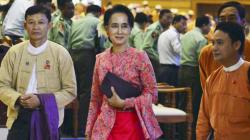 「アウンサンスーチー大統領の実現」に向け攻防か ミャンマー国会で与党と国軍