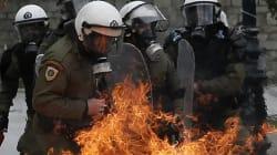 Scontri ad Atene durante lo sciopero generale contro la riforma delle