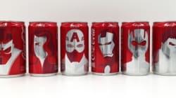 Coca-Cola e Marvel criam latinhas de super-heróis para anunciar surpresa no Super