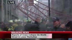 Une grue s'effondre à New York en pleine