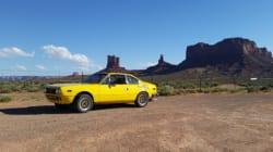 Dans une vieille Lancia 1976, il a traversé l'Amérique du Nord