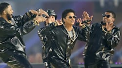 Bruno Mars And Squad Wear Versace For Super Bowl Dance