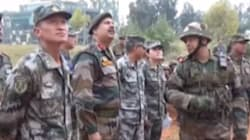 Indian And Chinese Border Troops Hold Joint Disaster Relief