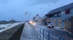 Les images impressionnantes de la tempête en Bretagne et en Normandie filmée par les