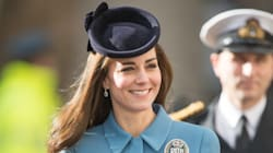 Kate Middleton Sports Head-To-Toe Blue For RAF 75th