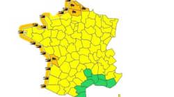 15 départements en vigilance orange pour vents violents et