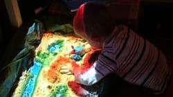 Ce papa français a fabriqué un bac à sable augmenté pour son