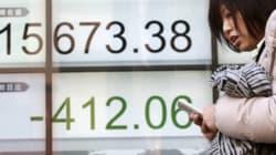 東証、終値で1万6000円割れ