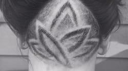 #hairtattoos Lorsque les cheveux deviennent des tatouages secrets