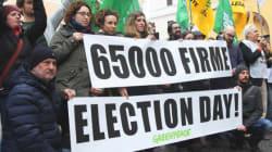 Petrolio. Sit-in a Montecitorio per election day e Sinistra italiana presenta la proposta di