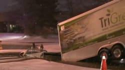 Sinkhole Swallows Pickup Truck In