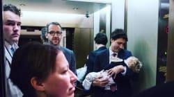 Trudeau souligne ses 100 jours au pouvoir avec une adorable